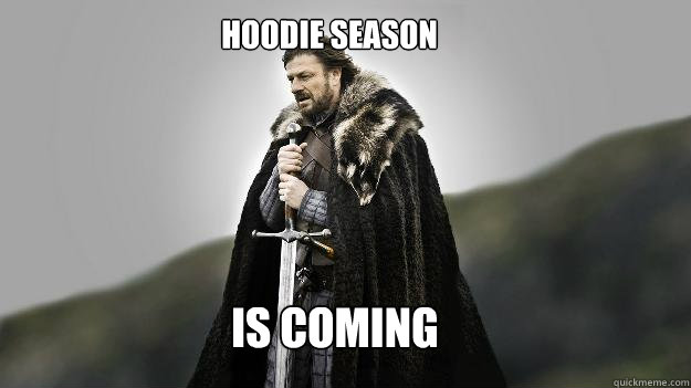 IS COMING HOODIE SEASON - IS COMING HOODIE SEASON  Ned stark winter is coming