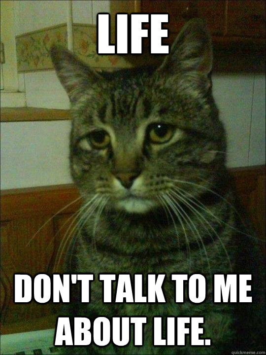 Life Don't talk to me about life. - Life Don't talk to me about life.  Depressed Simon