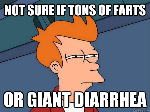 Not sure if tons of farts Or giant diarrhea - Not sure if tons of farts Or giant diarrhea  Futurama Fry
