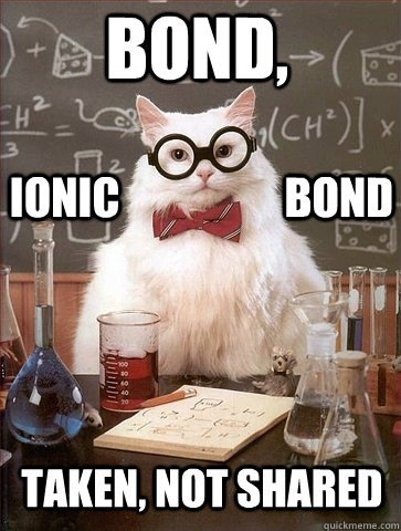 Bond, Taken, not shared Ionic                   BOnd - Bond, Taken, not shared Ionic                   BOnd  Chemistry Cat
