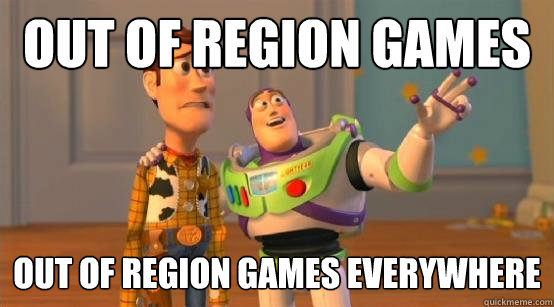 Out of region games out of region games EVERYWHERE - Out of region games out of region games EVERYWHERE  Buzz Glitter