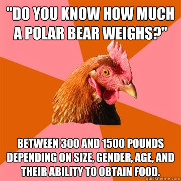 do you know how much a polar bear weighs