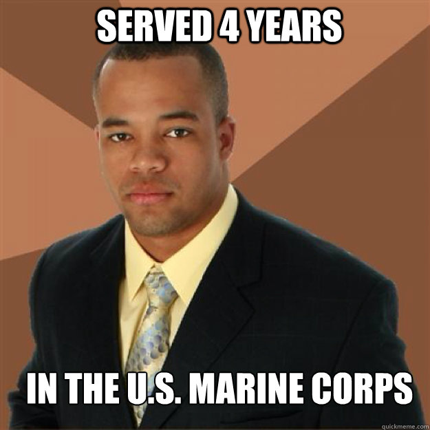 served 4 years in the u.s. marine corps