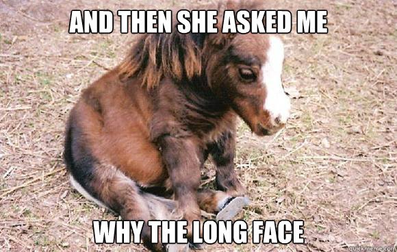 And then she asked me why the long face - And then she asked me why the long face  Misc