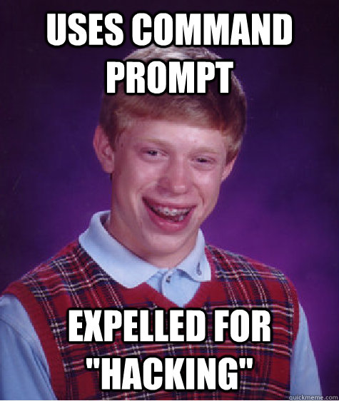 Uses command prompt expelled for