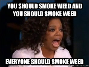 You should smoke weed and you should smoke weed everyone should smoke weed
