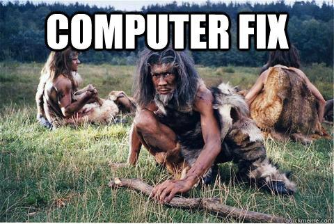 Computer Fix   Caveman