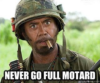 Never go full motard