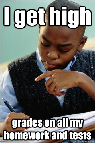 I get high grades on all my homework and tests - I get high grades on all my homework and tests  Studious Black Kid