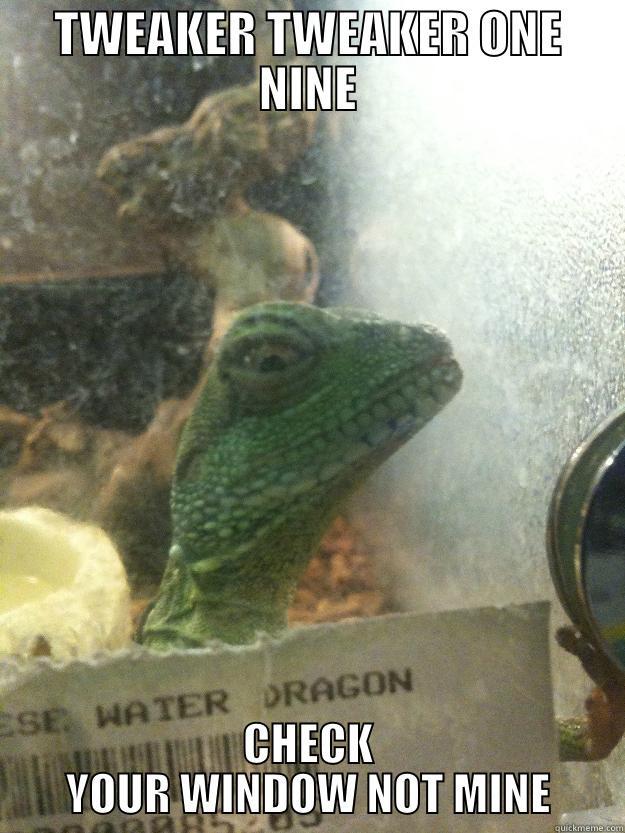 TWEAKER TWEAKER ONE NINE CHECK YOUR WINDOW NOT MINE Leery Lizard