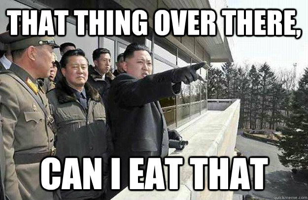 That thing over there, Can I eat that