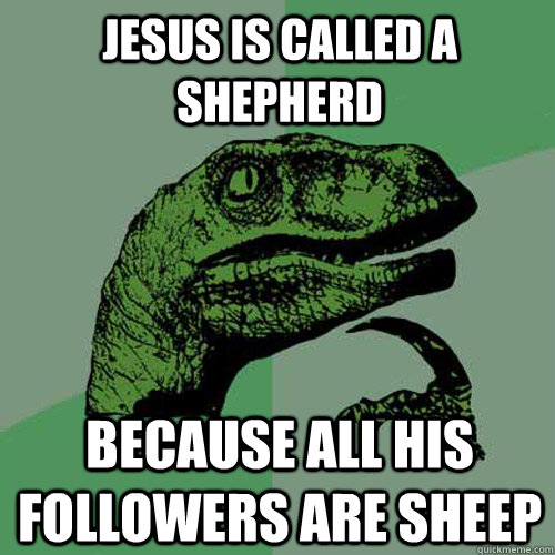 Jesus is called a shepherd because all his followers are sheep - Jesus is called a shepherd because all his followers are sheep  Misc