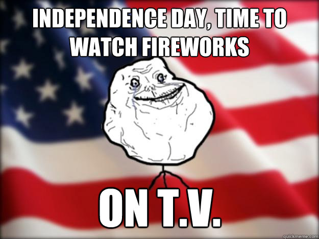 independence day, time to watch fireworks on t.v.