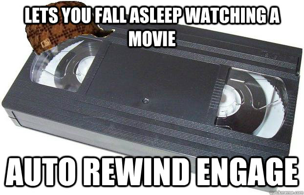 lets you fall asleep watching a movie AUTO REWIND ENGAGE