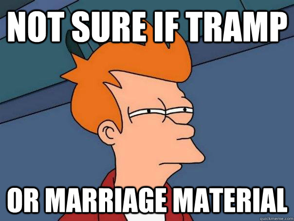 Not sure if tramp or marriage material - Not sure if tramp or marriage material  Futurama Fry