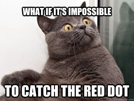 what if it's impossible to catch the red dot