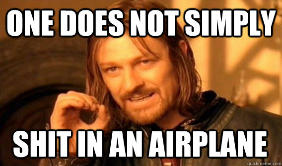 ONE DOES NOT SIMPLY SHIT IN AN AIRPLANE