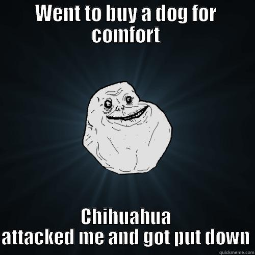 WENT TO BUY A DOG FOR COMFORT CHIHUAHUA ATTACKED ME AND GOT PUT DOWN Forever Alone