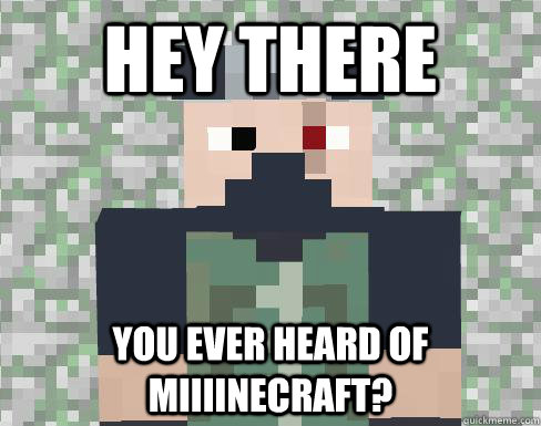 Hey there You ever heard of miiiinecraft? - Hey there You ever heard of miiiinecraft?  ETHO IT