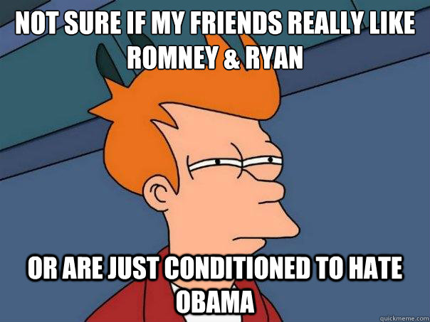 Not sure if my friends really like Romney & Ryan or are ...