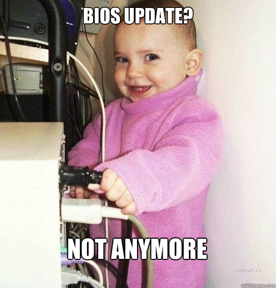 BIOS update? not anymore - BIOS update? not anymore  Troll Baby