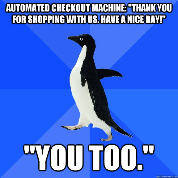 Automated checkout machine: