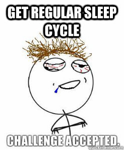 get regular sleep cycle