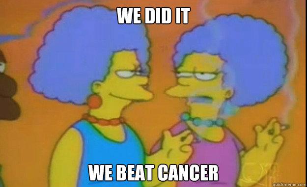we did it we beat cancer - we did it we beat cancer  Misc