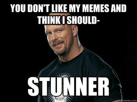 you don't like my memes and think I should- stunner