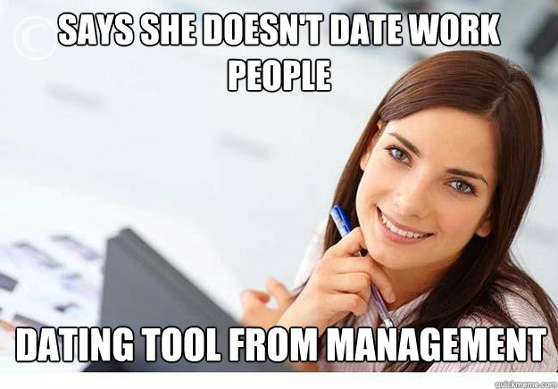 Dating a girl at work