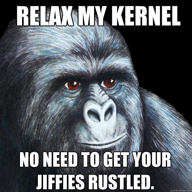 relax my kernel hertz no need to get your jiffies rustled.