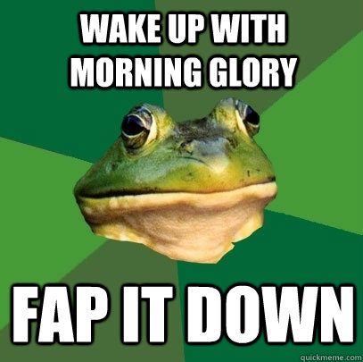 wake up with morning glory fap it down - wake up with morning glory fap it down  Foul Bachelor Frog