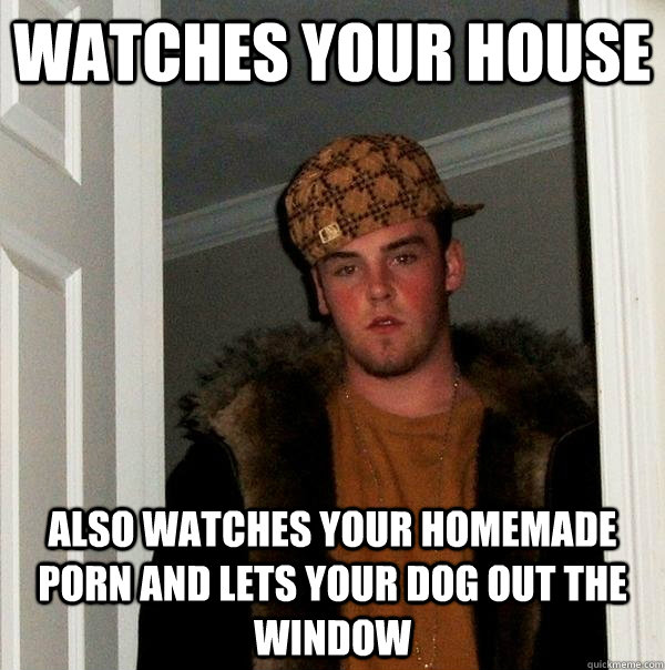 Watches your house also watches your homemade porn and lets your dog out  the window