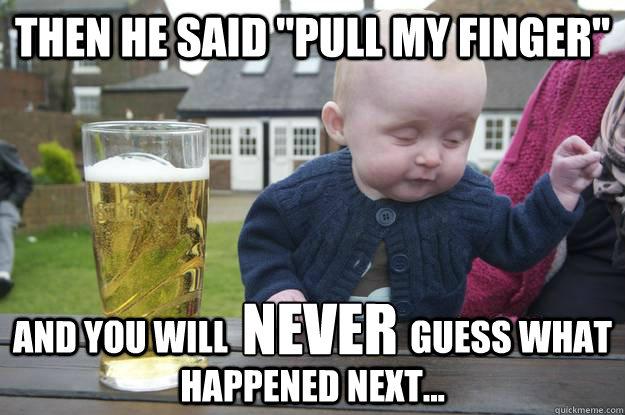 Then he said