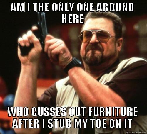 FUCK YOU,TABLE! - AM I THE ONLY ONE AROUND HERE WHO CUSSES OUT FURNITURE AFTER I STUB MY TOE ON IT Am I The Only One Around Here