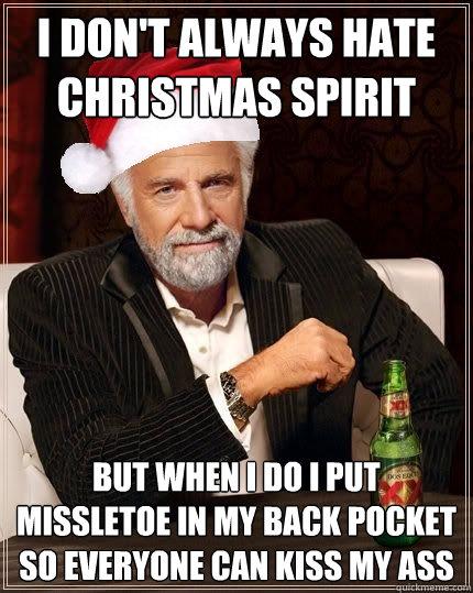 i don't always hate christmas spirit but when i do i put missletoe ...