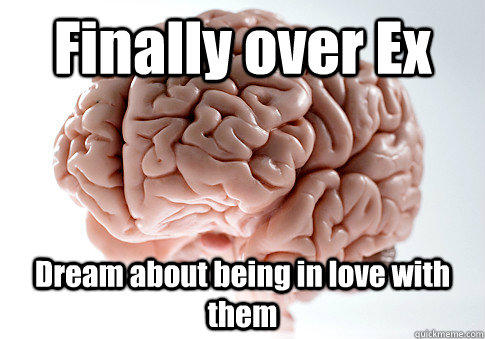 Finally over Ex Dream about being in love with them - Finally over Ex Dream about being in love with them  Scumbag Brain