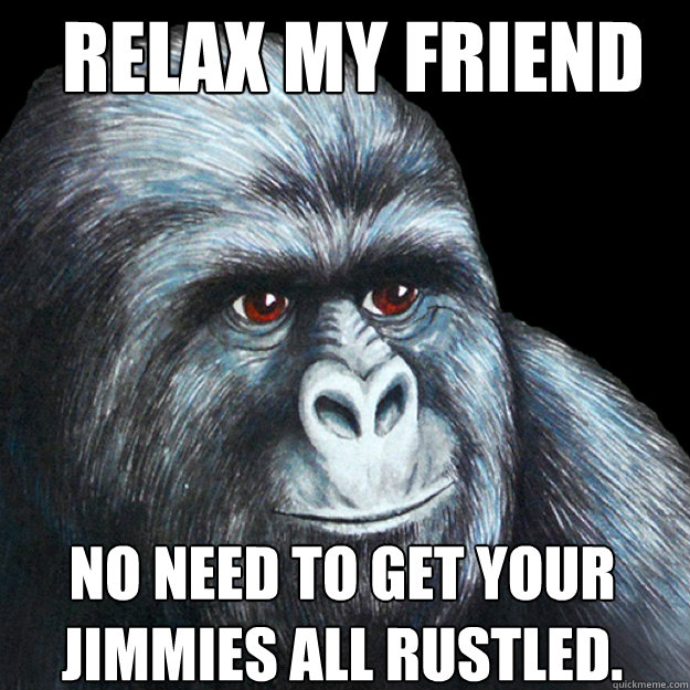 relax my friend no need to get your jimmies all rustled.