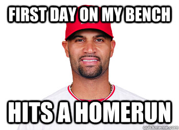 First day on my bench Hits a homerun - First day on my bench Hits a homerun  Misc