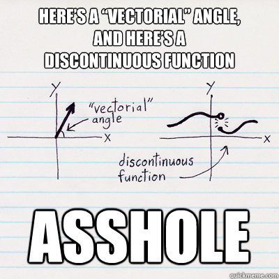 "Here's a ""vectorial"" angle, and here's a discontinuous function ASSHOLE - Here's a ""vectorial"" angle, and here's a discontinuous function ASSHOLE  Vectorial Angle and Discontinuous Function"