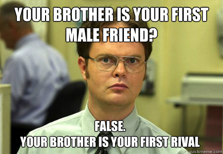 Your brother is your first male friend