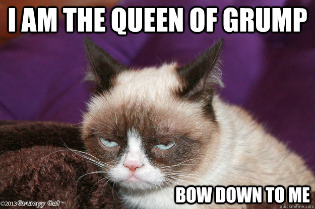 72aa67b943e6be792cd544ec3913d019524dba74517f223cae7ccdd5c4fe354e i am the queen of grump bow down to me misc quickmeme,Get Bow Down Meme