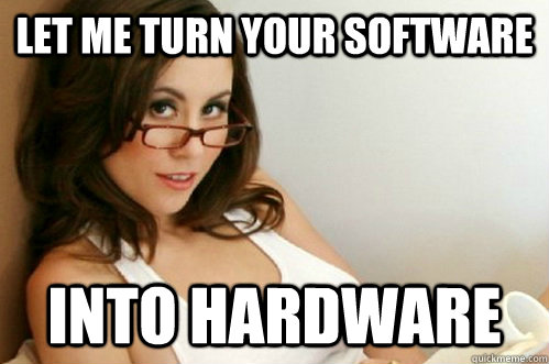 Let me turn your software into hardware