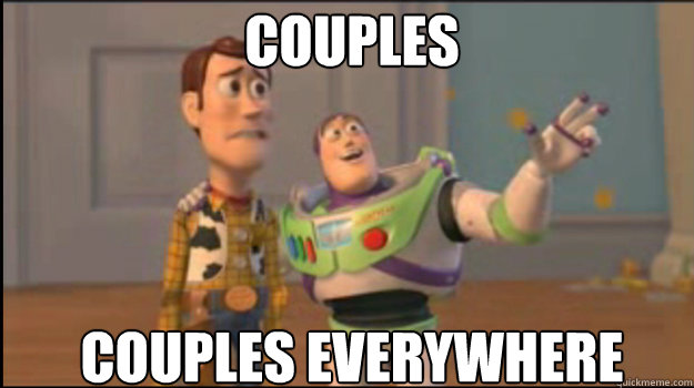 Couples couples everywhere - Couples couples everywhere  Buzz and Woody