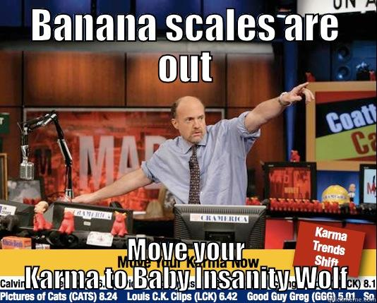 The front page right now - BANANA SCALES ARE OUT MOVE YOUR KARMA TO BABY INSANITY WOLF Mad Karma with Jim Cramer