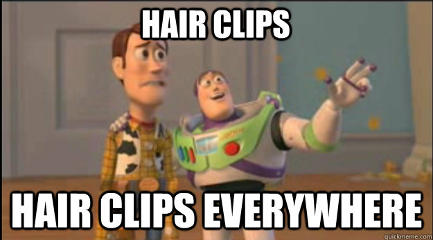 Image result for hair clips everywhere
