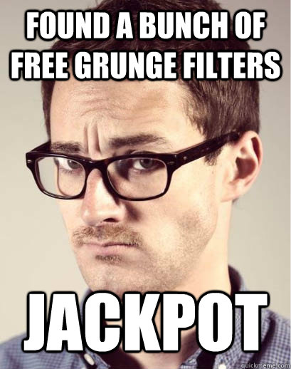 found a bunch of free grunge filters jackpot - found a bunch of free grunge filters jackpot  Junior Art Director
