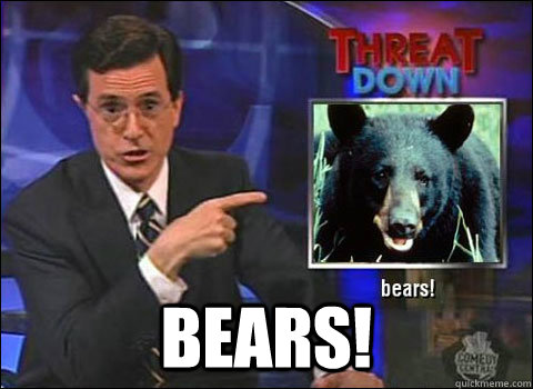 bears!  Stephen Colbert