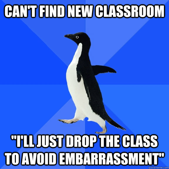 Can't find new classroom