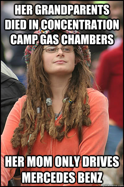 Her grandparents died in concentration camp gas chambers for Mercedes benz gas chambers